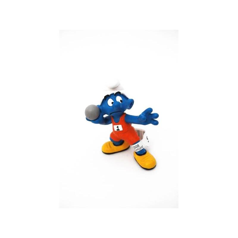 Figura Pitufo lanzador de peso