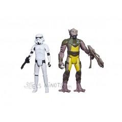 "Figuras Garazeb ""Zeb"" Orrelios y Stormtrooper"
