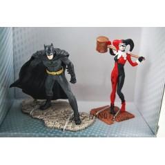 Figuras Batman y Harley Quinn