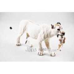 Lleona blanca figura amb cadell Papo