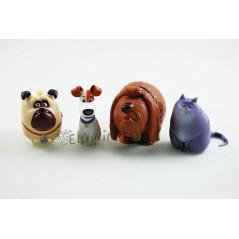 Colección figuras llavero Mascotas película