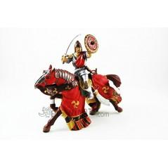 Figura Caballero Oriental rojo con casco Papo