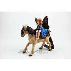 Figura Elfo Niña con Pony (Papo)