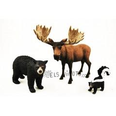 Figuras Habitantes del Bosque América del Norte Schleich
