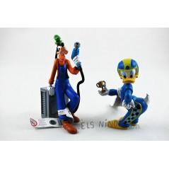Figuras Pato Donald y Goofy corredores