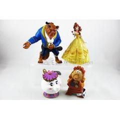Colección figuras Disney La Bella y la Bestia