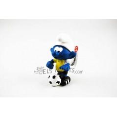 Figura Pitufo futbolista con pelota