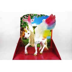 Figura Unicornio Arcoiris Alado