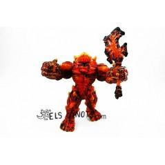 figura Gòlem de lava con arma