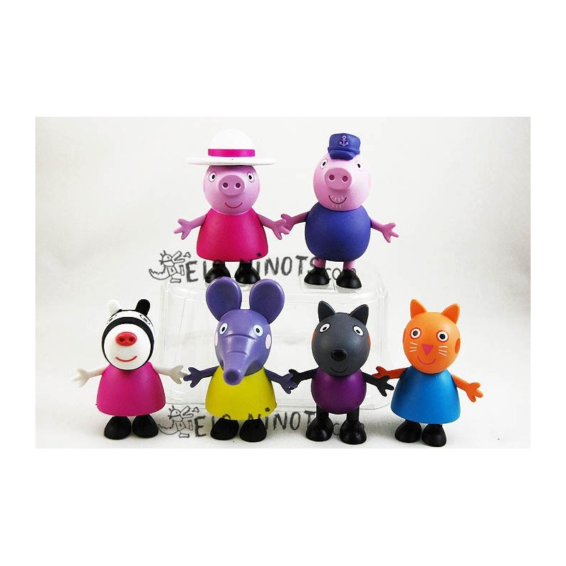 Figuras Peppa Pig Abuelos y Amigos