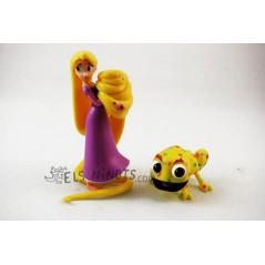 Figuras Rapunzel con Pascal amarillo