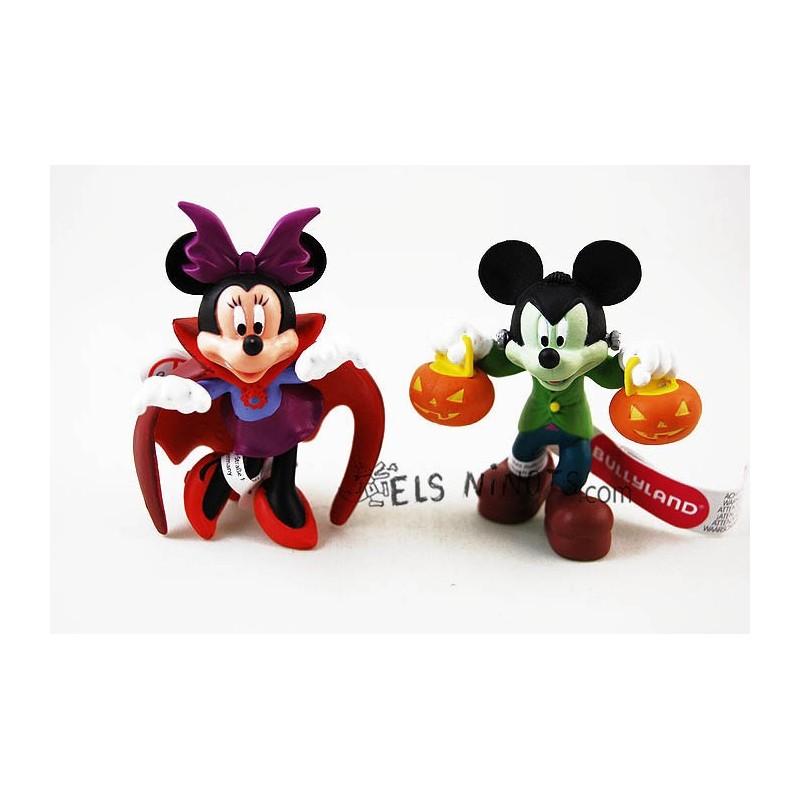 Figuras Mickey Frankenstein y Minnie Vampira