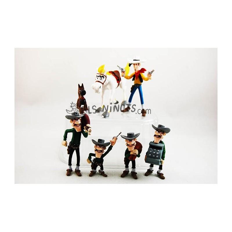 Colección figuras Lucky Luke tubo