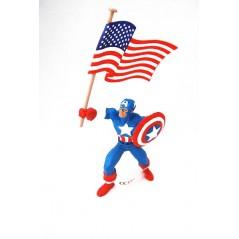 Figura Capitán América con bandera (comansi)
