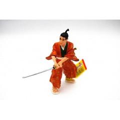 Figura Samurai con Kimono y katana (Plastoy)
