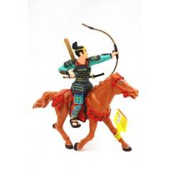 Figura Samurai arquero con caballo (Plastoy)