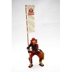 Figura Samurai bandera estandarte