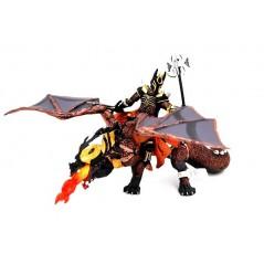 Figura guerrero Triple hacha y dragón de las Tinieblas