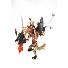 Figura Esqueleto con dragón Guerrero (Papo)