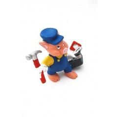 Figura Cerdito Trabajador de Disney