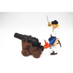 Figura Artillero Marina Real y cañon (Papo)