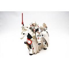 Figura Caballero Ciber con caballo Ciber blanco