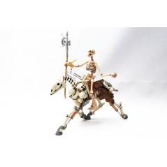 Figura caballo fluorescente con jinete esqueleto