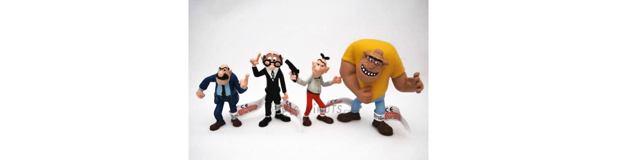 Figurines Mortadelo et Filemon