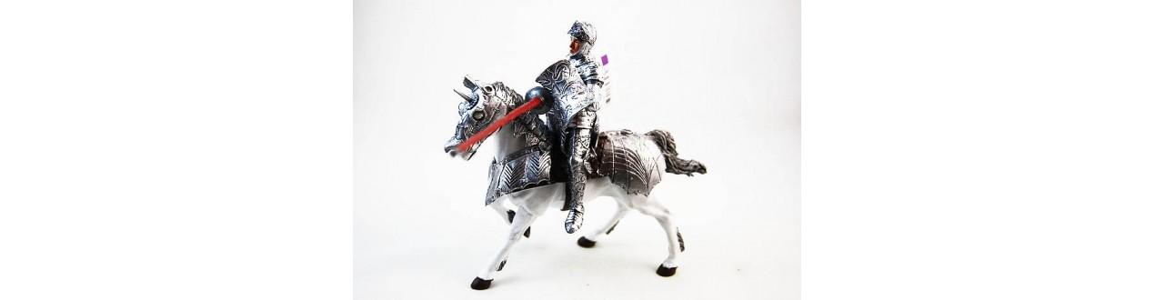Figurines Chavaliers Médiévaux Schleich et Papo