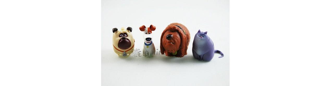Figuras llavero Mascotas película