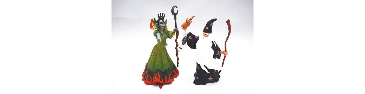 Figuras de Hadas, Brujas, Magos, princesas, mundo encantado