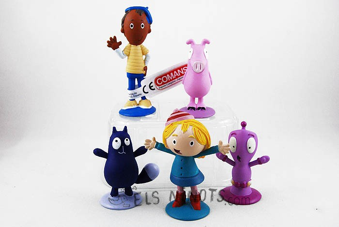 Figurines Peg + Chat